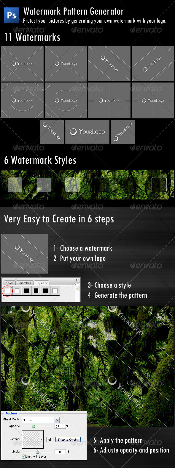 Watermark Pattern Generator - Patterns Backgrounds