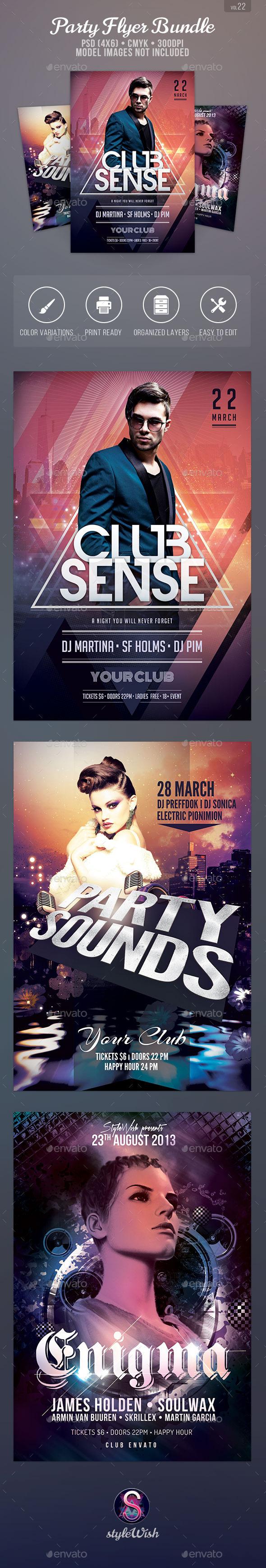 Party Flyer Bundle Vol.22 - Clubs & Parties Events