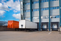 Distribution Center with Trailers - PhotoDune Item for Sale