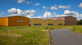 Modern commercial warehouse buildings in a newly devoloped indus - PhotoDune Item for Sale
