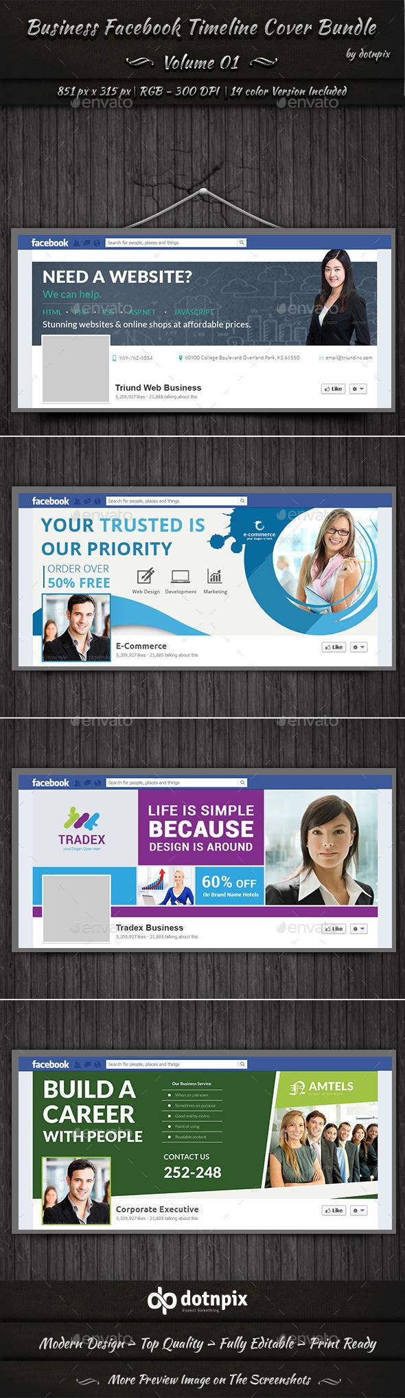 GraphicRiver Business Facebook Timeline Cover Bundle Volume 1 11301957