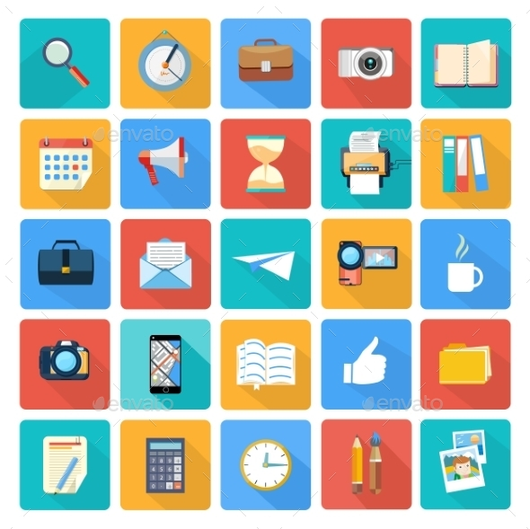 GraphicRiver Business and Office Icons 11302261