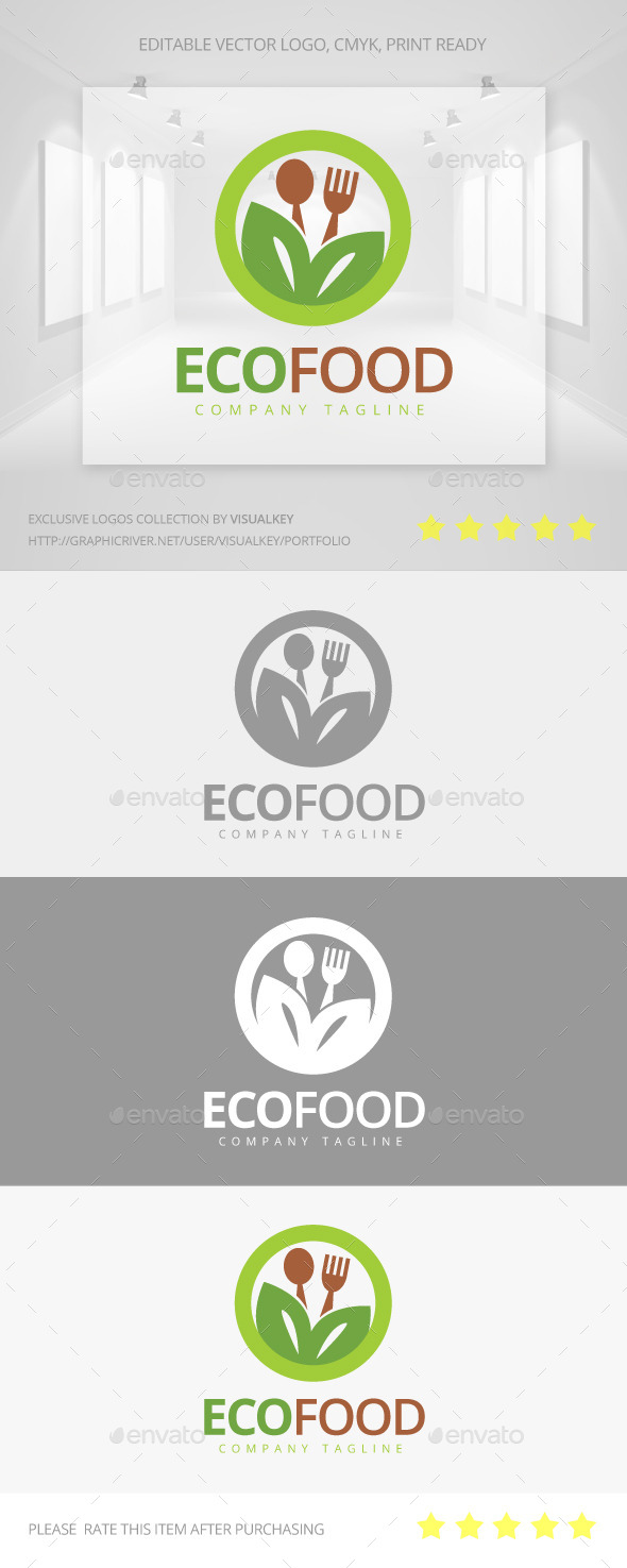 GraphicRiver Eco Food Logo 11302476