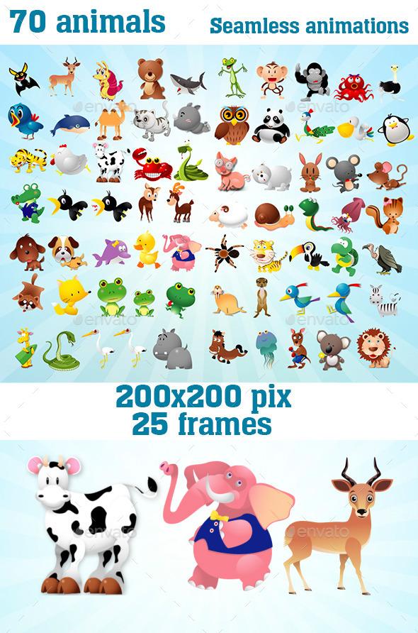 Animated Toon Animals (Sprites)