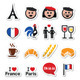 I love Paris Icons Set  - GraphicRiver Item for Sale