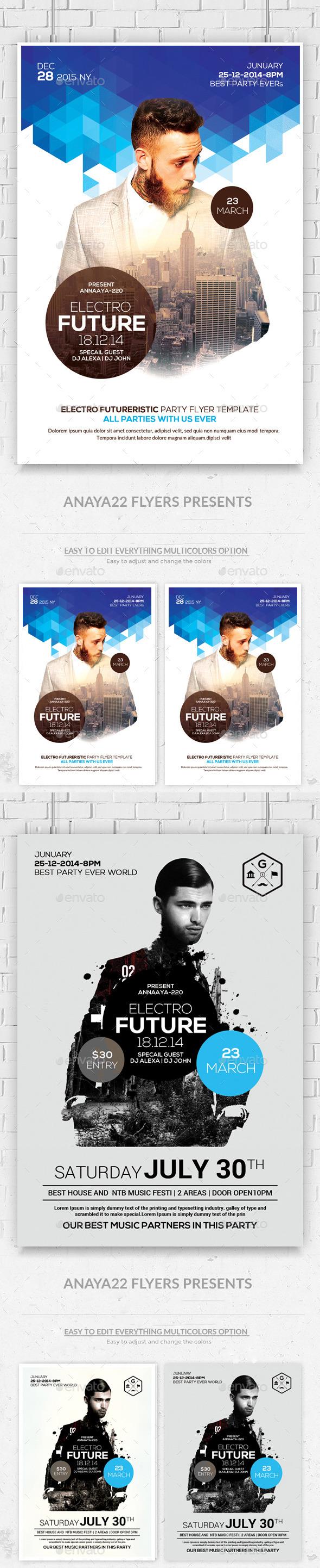 GraphicRiver Futuristic Flyer Psd Bundle Templates 11302704