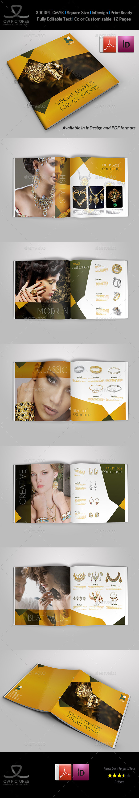GraphicRiver Jewelry and Accessories Catalog 12 Pages 11302736