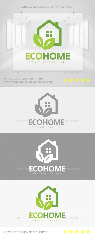 GraphicRiver Eco Home Logo 11302744