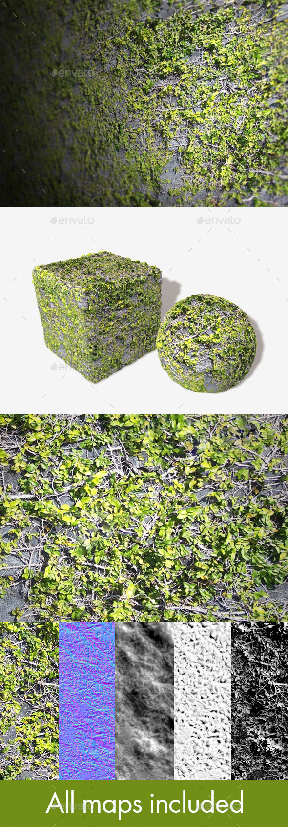 3DOcean Rock Vines Seamless Texture 11302790