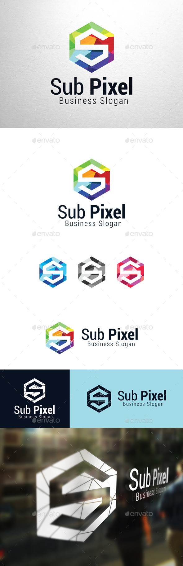 GraphicRiver Sub Pixel Letter S Logo 11302824