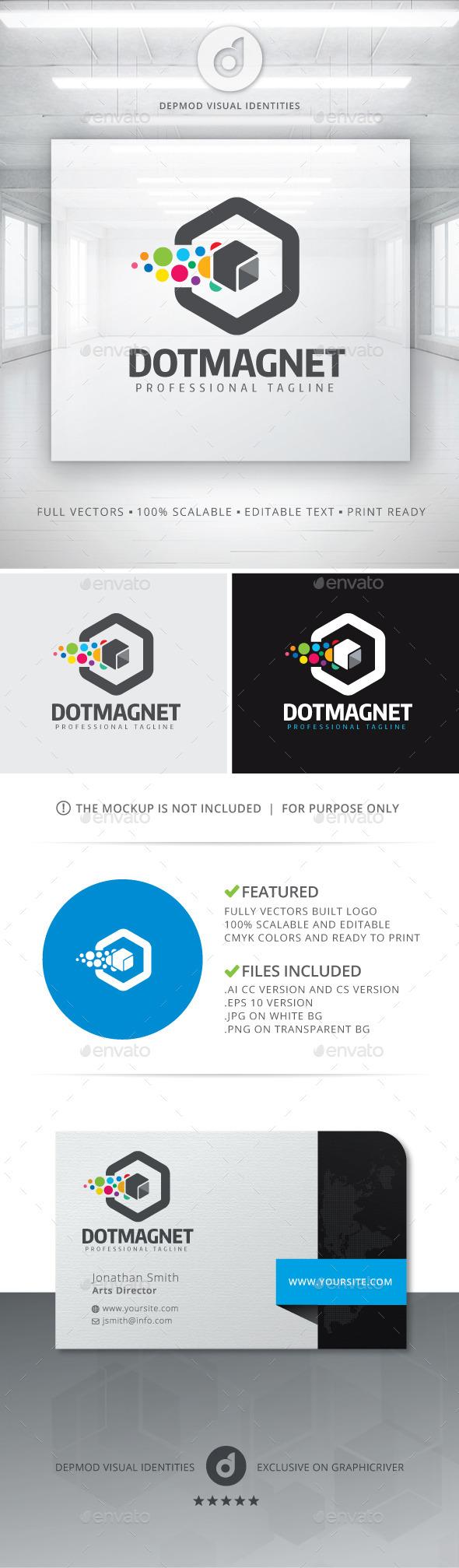GraphicRiver Dot Magnet Logo 11290771