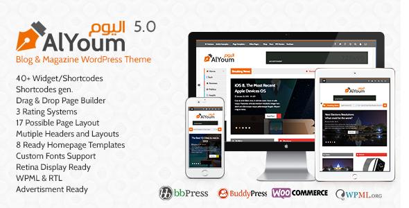 AlYoum   Retina Magazine & Blog WordPress Theme