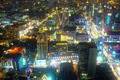 Beautifully Lit Cityscape in Asia at Night - PhotoDune Item for Sale