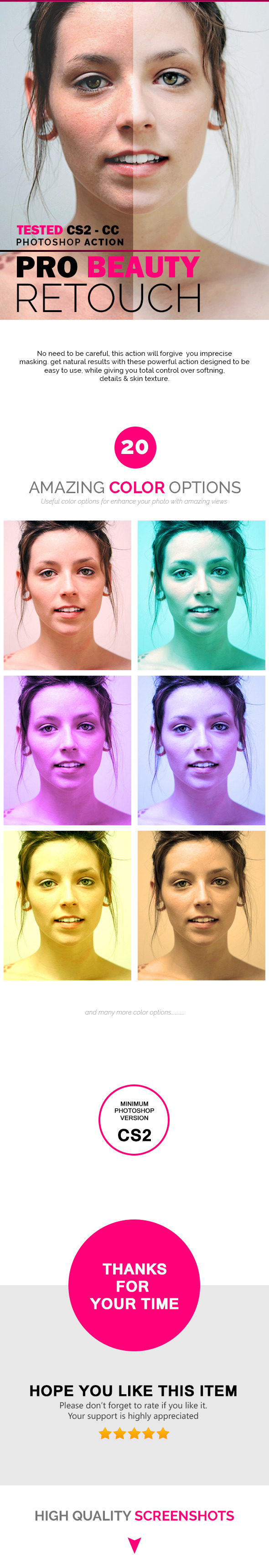 GraphicRiver Pro Beauty Retouch PHOTOSHOP ACTION 11303319