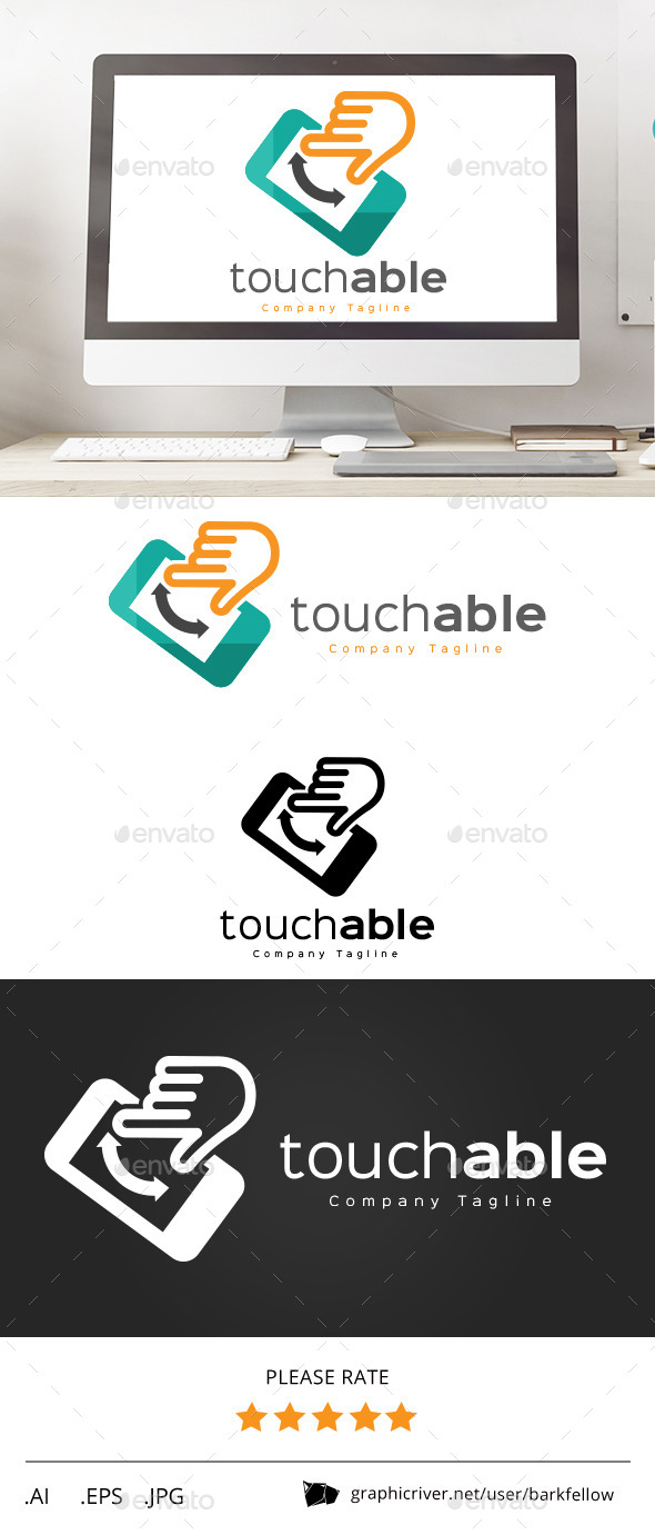 GraphicRiver Touchable Phone Logo 11240598