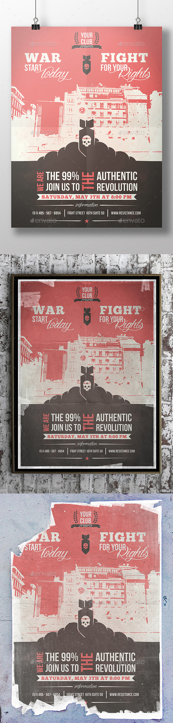 GraphicRiver World War Flyer Template 11303370