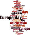 Europe Day Word Cloud Concept - PhotoDune Item for Sale