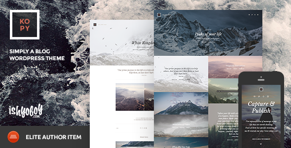 ThemeForest Kopy WP Simply a Blog WordPress Theme 11226345