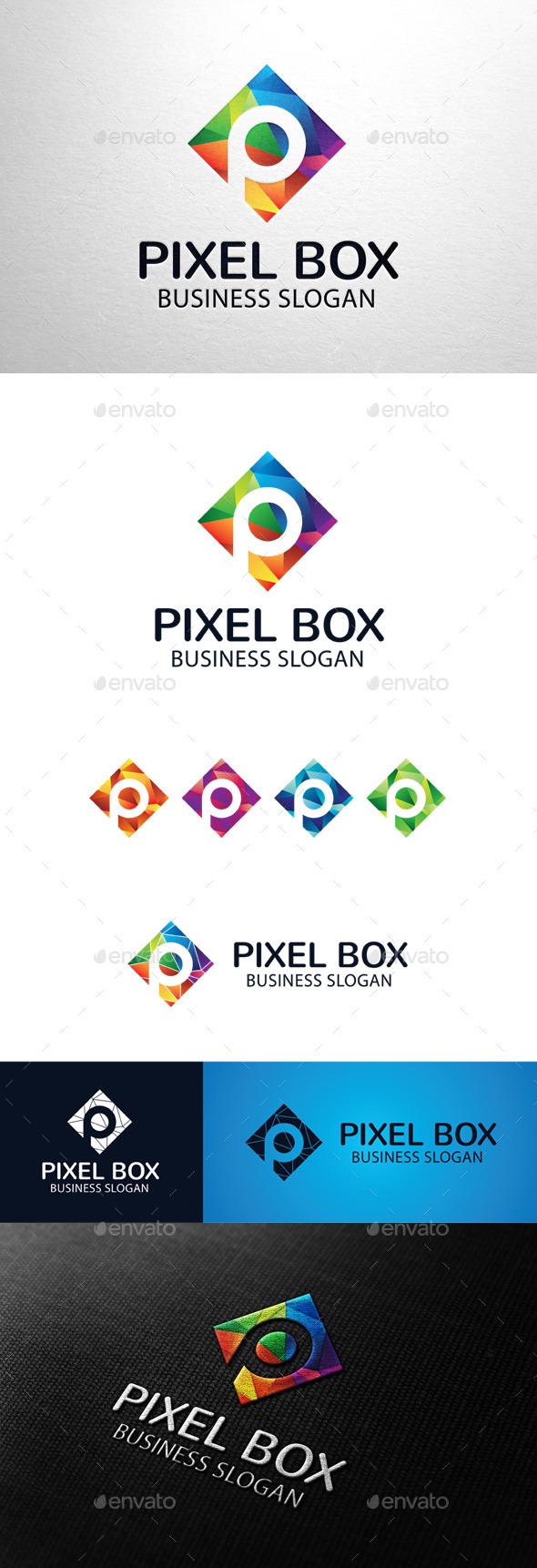 GraphicRiver Pixel Box Letter P Logo 11294507