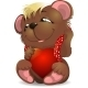 Bear and Heart - GraphicRiver Item for Sale
