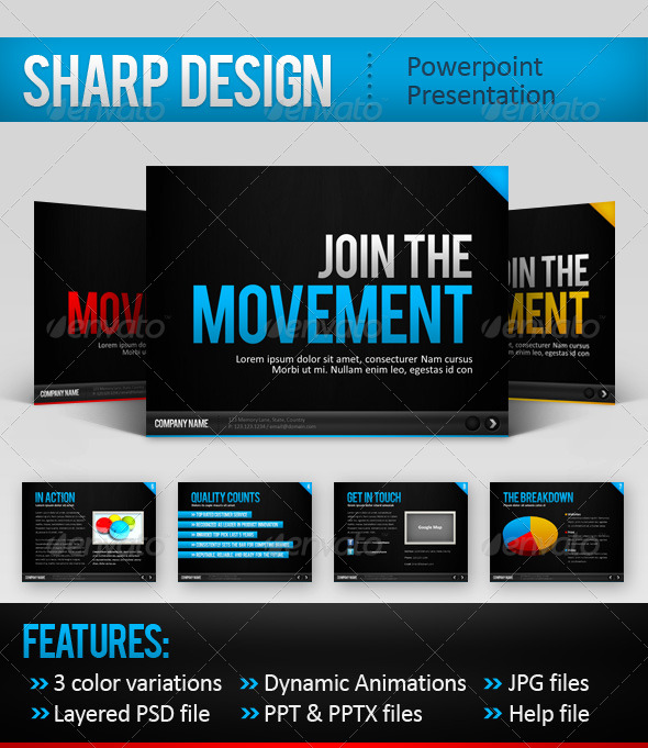 SharpDesign Modern Powerpoint Templates Designs