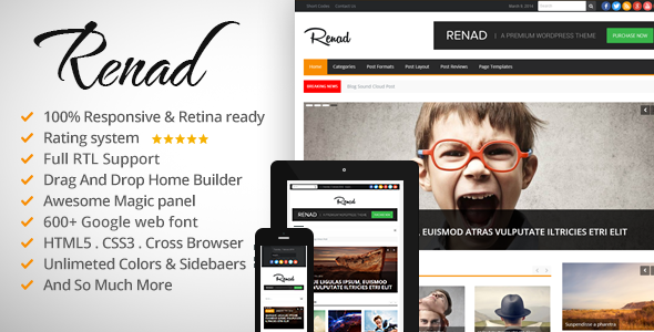 Renad - Clean & Modern WordPress Magazine Theme - News / Editorial Blog / Magazine