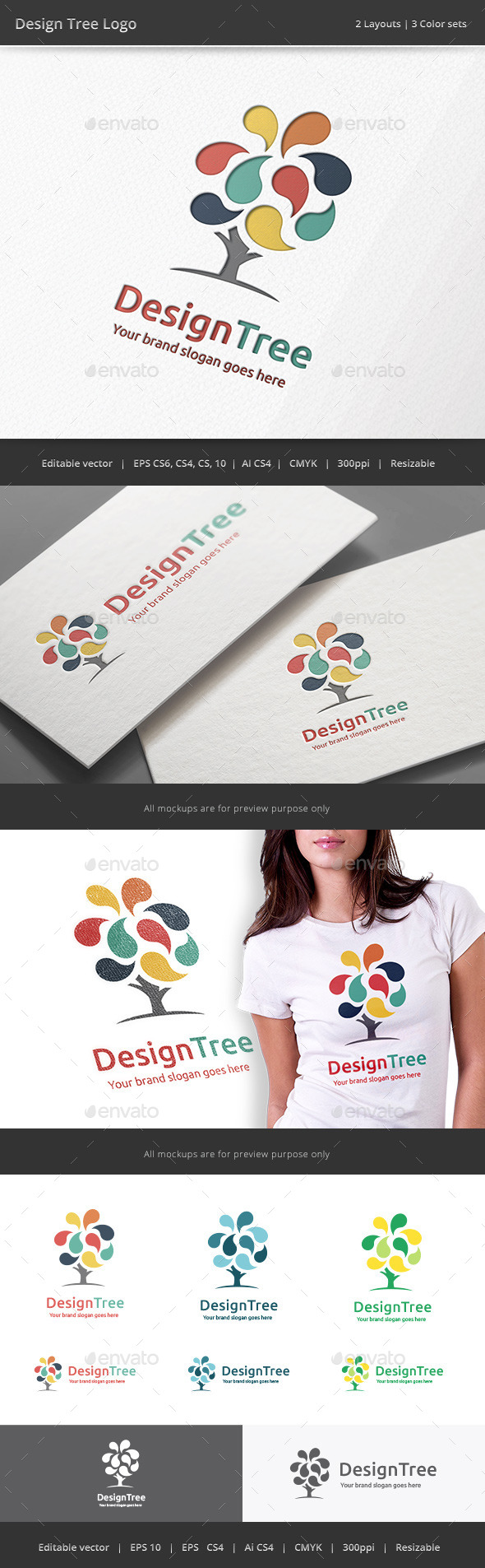 GraphicRiver Design Tree Logo 11303897