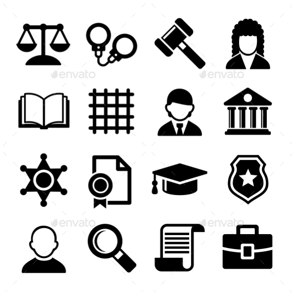 GraphicRiver Law And Justice Icons Set Vector 11303906