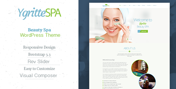 ThemeForest Ygritte Spa Beauty Salon WordPress Theme 11304032