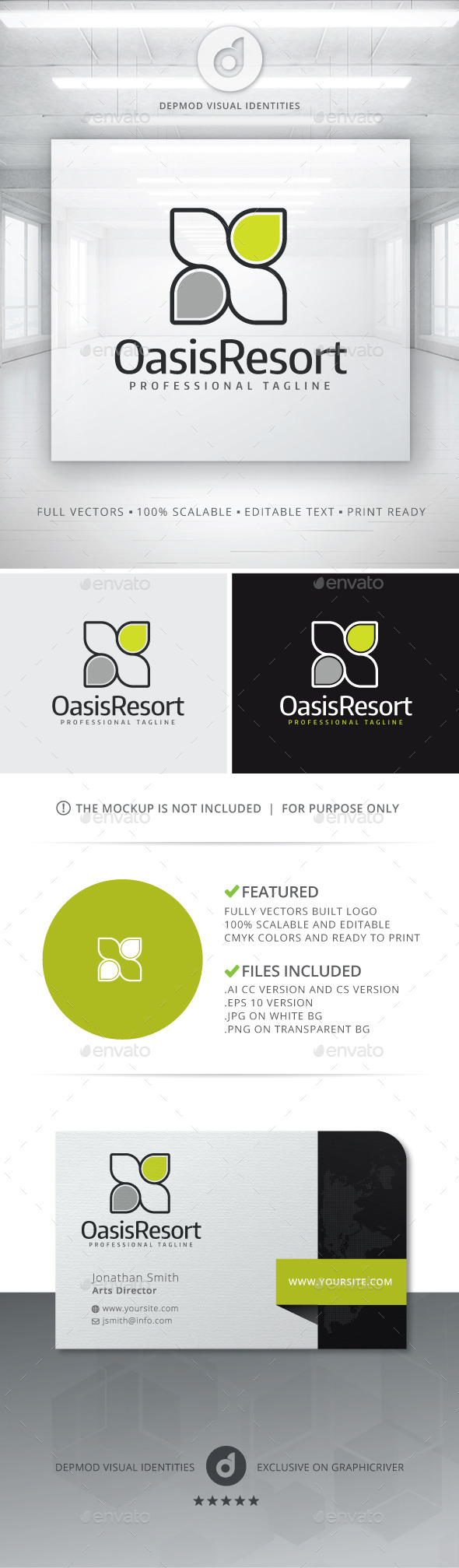 GraphicRiver Oasis Resort Logo 11304210