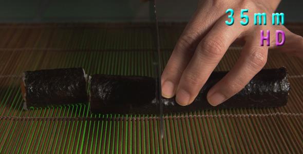 VideoHive Cutting Sushi Rolls 10 11304230