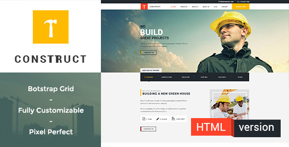 ThemeForest Construct Building and Construction HTML Template 11257835