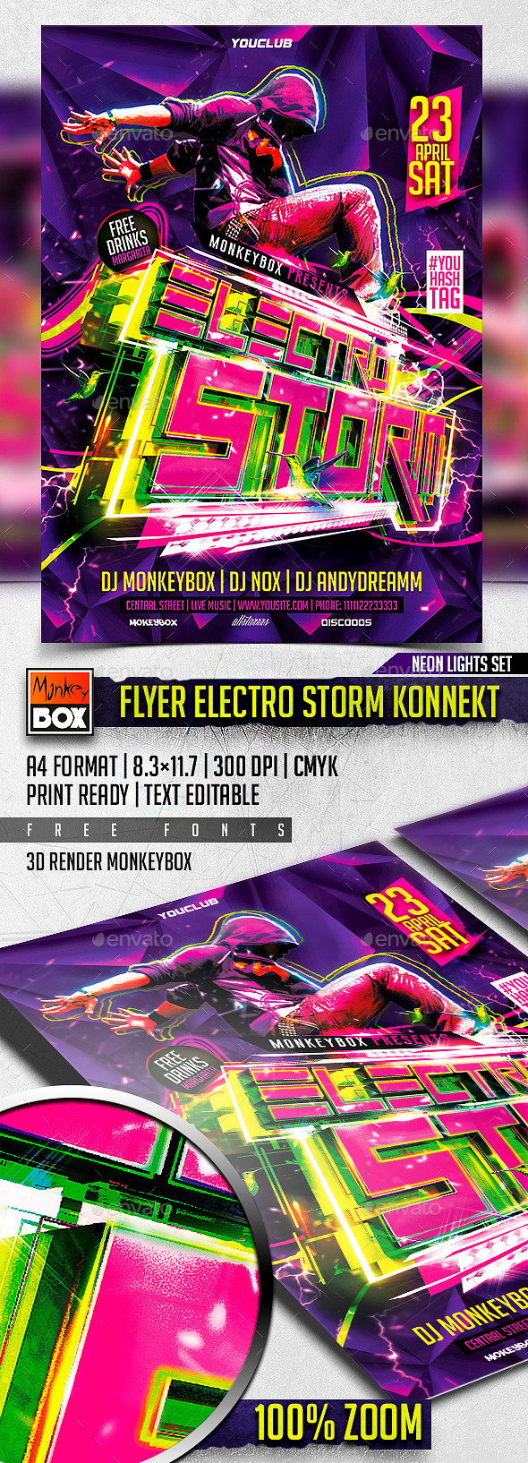 GraphicRiver Flyer Electro Storm Konnekt 11304949