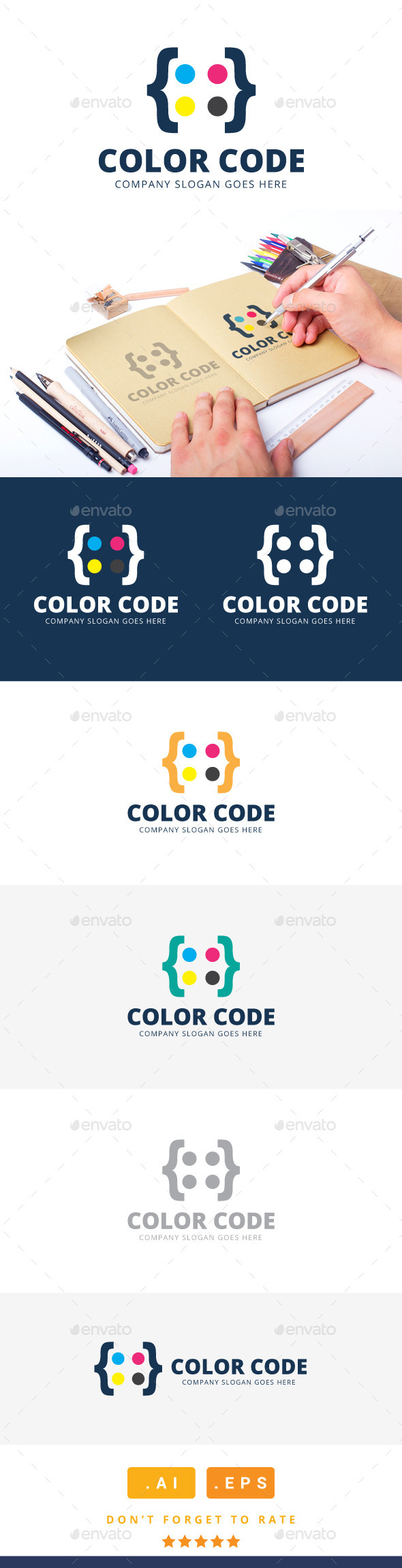 GraphicRiver Color Code Logo 11304953