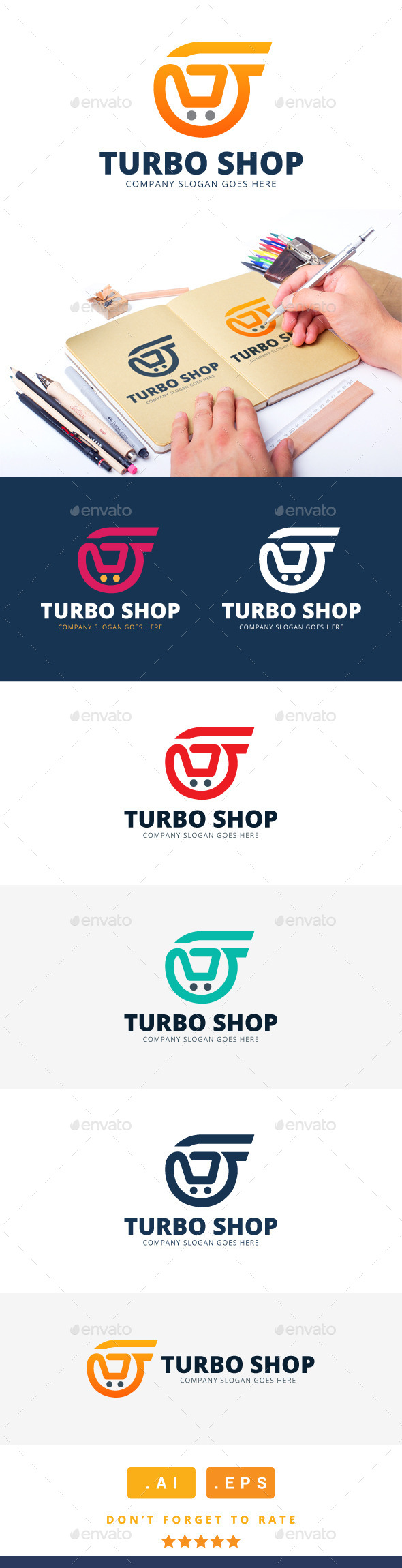 GraphicRiver Turbo Shop Logo 11304980