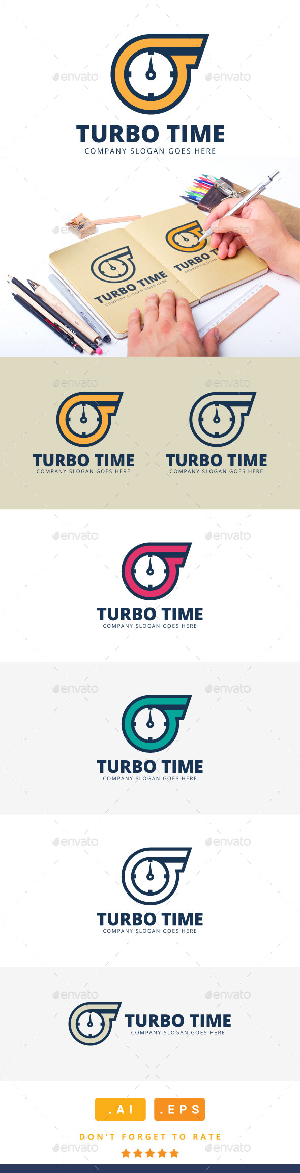 GraphicRiver Turbo Time Logo 11304982