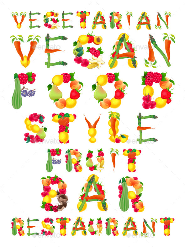 GraphicRiver Words in Vegan Style 11304997