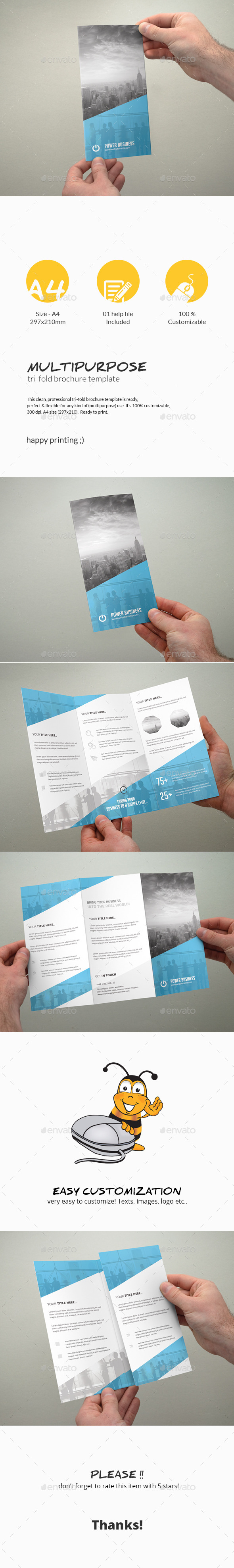 GraphicRiver Tri-Fold Brochure Multipurpose 11305062