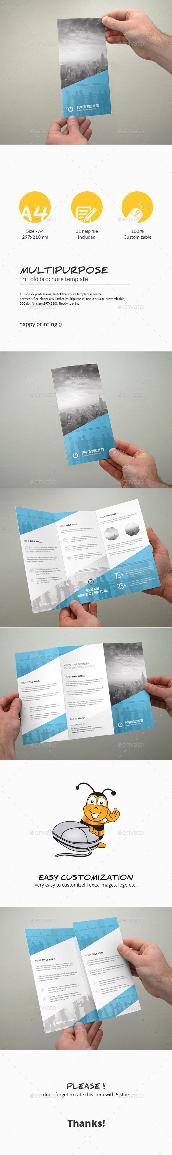 GraphicRiver Tri-Fold Brochure Multipurpose 11305062