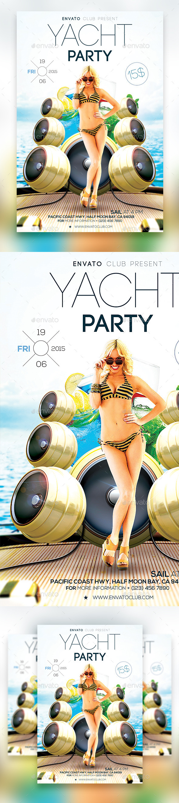 GraphicRiver Yacht Party Flyer Vol.2 11305084