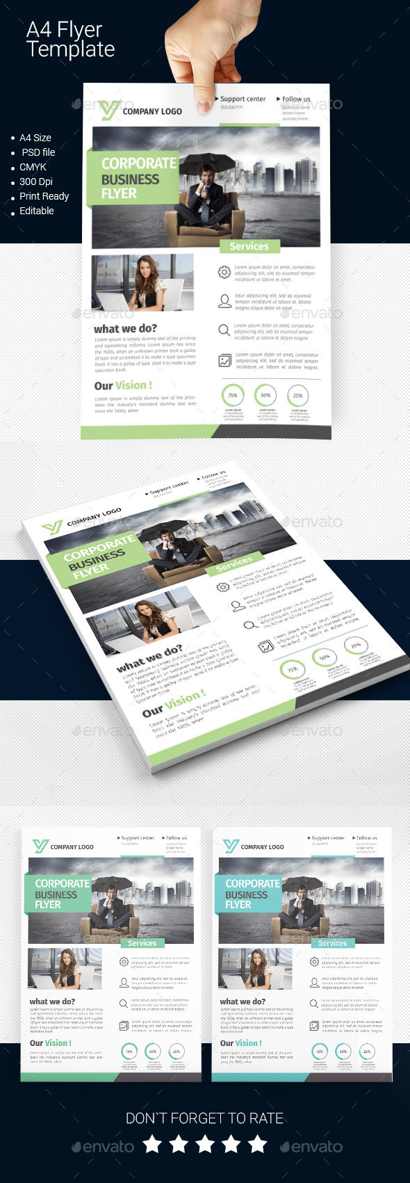 GraphicRiver A4 Business Flyer Template 06 11249704