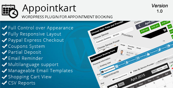 CodeCanyon Appointkart Appointment Booking for Wordpress 11262035
