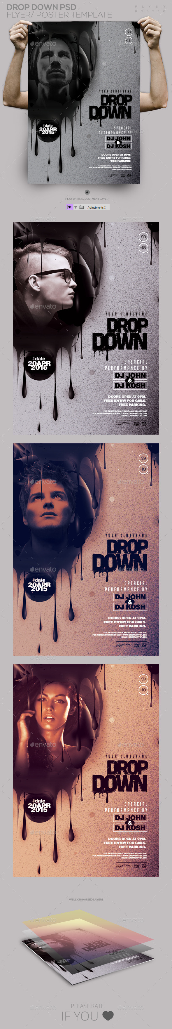 GraphicRiver Guest Dj Drop Down PSD Flyer Poster 11305563