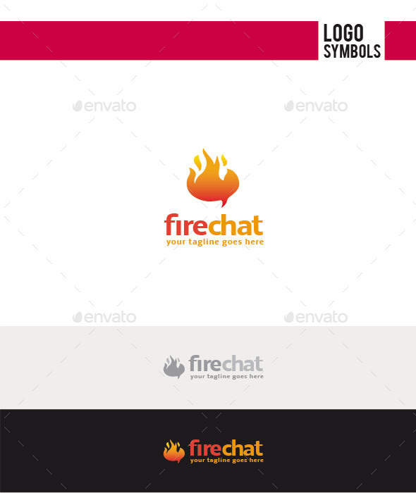 GraphicRiver Fire Chat Logo 11252487