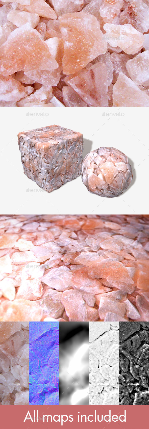 3DOcean Rose Quartz Geodes Seamless Texture 11305705
