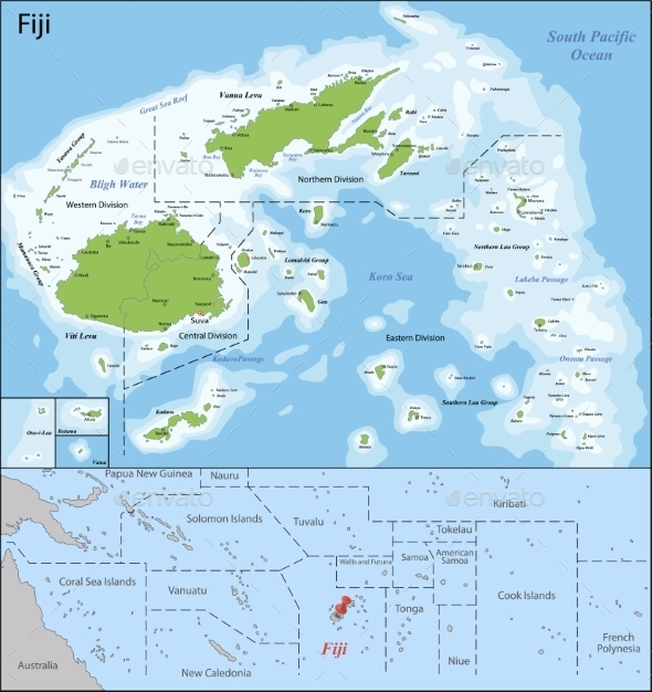 GraphicRiver Fiji Map 11305764