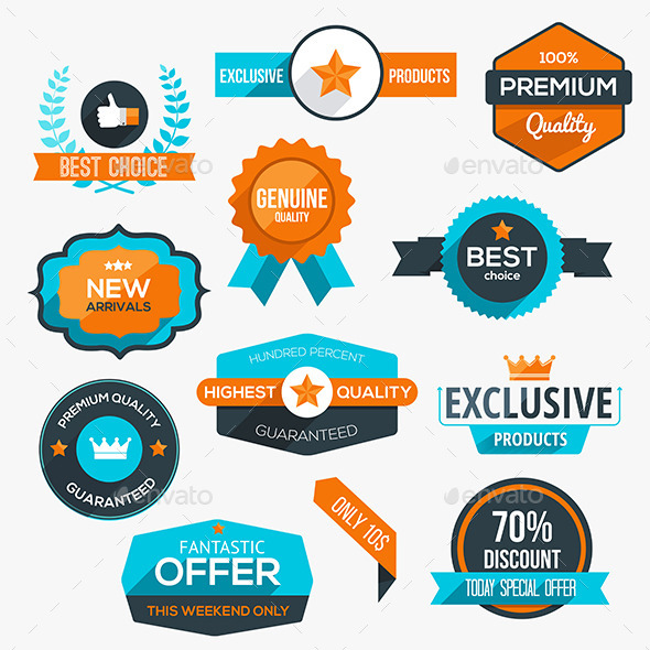 GraphicRiver Collection of Modern Labels 11305776