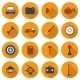 Set Of Flat Car Repair Icons