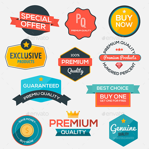 GraphicRiver Collection of Modern Labels 11305788