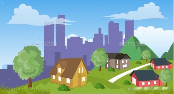 GraphicRiver Suburban Houses 11305795